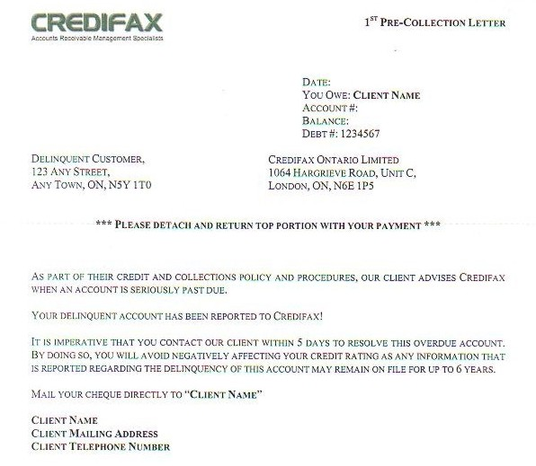 Credifax ontario limited 1st pre collection letter thecheapjerseys Choice Image